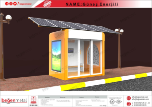 Bus Shelter with Solar Pannel System